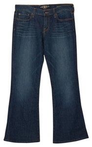 Lucky Brand Stretch Mid Rise Easy Flare Leg Jeans-Dark Rinse