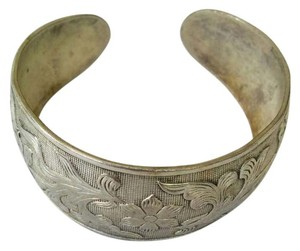 Other Silver Vintage Carved Bangle
