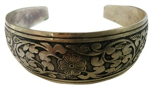 Silver Vintage Carved Bangle