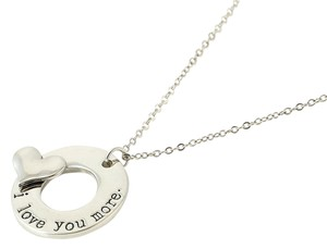 Other New I love You More Heart Charm Pendant Necklace Silver Chain Choker Jewelry