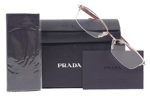 Prada PRADA PR 52OV Eyeglasses Color ZVN1O1 Pale Gold ~ Size 52 mm