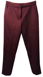 Topshop Trouser Pants Red, Rouge, Maroon, Garnet, Wine