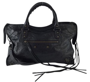 Balenciaga Classic City Satchel in Black
