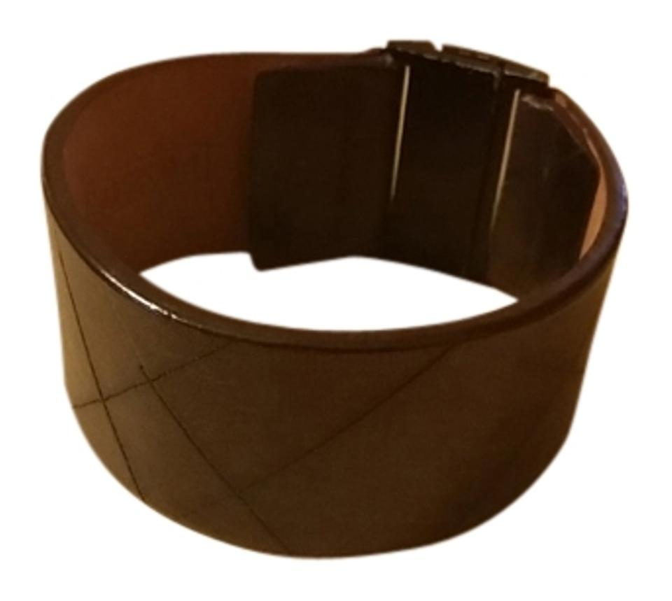 Fossil Brown Leather Bracelet Tradesy