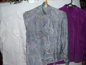 mixed lot Paisley Hippie Boho Bow Satin Top