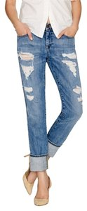J.Crew Distrssed Vintage Straight Leg Jeans-Distressed