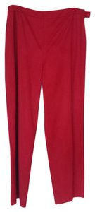 Ann Taylor Wide Leg Pants Red