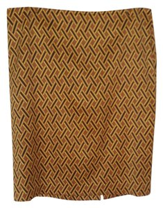 New York & Company Skirt Multi: gold, black and brown