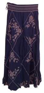Floreat Anthropolgie Maxi Skirt Blue