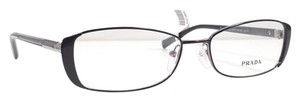 Prada PRADA PR 58OV Eyeglasses Color FAR1O1 Top Black/Gunmetal ~ Sz 53 mm