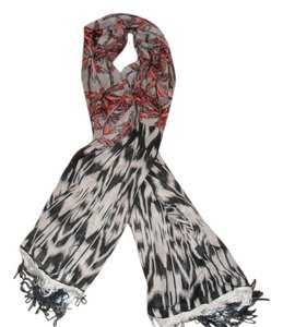 Forever 21 Forever 21 Scarf with Palm Trees and Ikat Design with Fringe