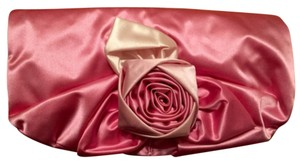 Banana Republic Floral Flower Satin Pink Clutch