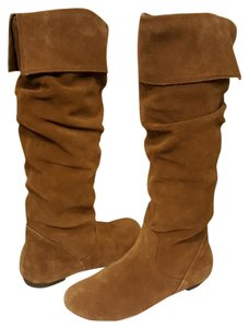 Gianni Bini Suede Leather Brown Boots