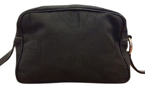 Dolce&Gabbana Black Logo Fabric Travel / Cosmetic Toiletry Bag Pouch