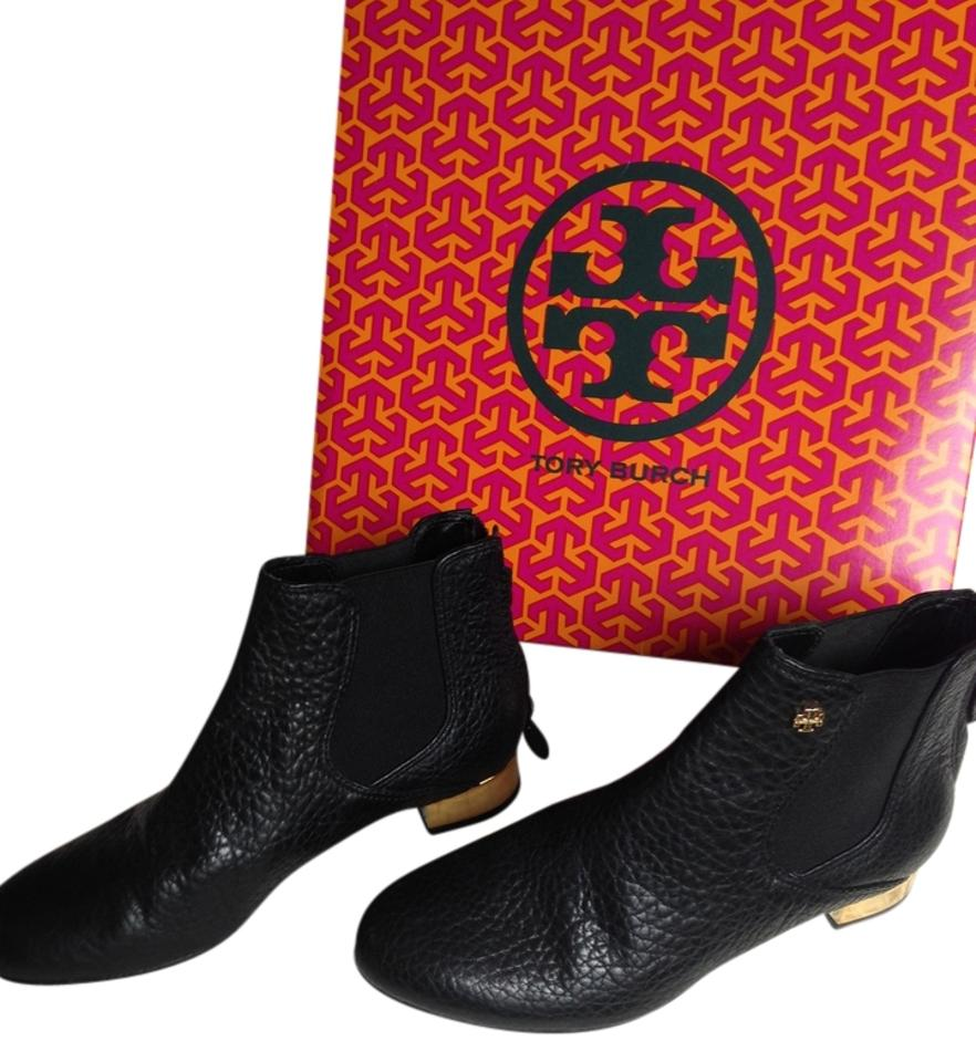 WOMEN Tory Burch Black/Gold Heels price Boots/Booties At a lower price Heels 01e1f6