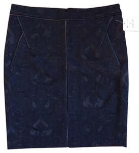 Zara Brocade Pencil Skirt Black