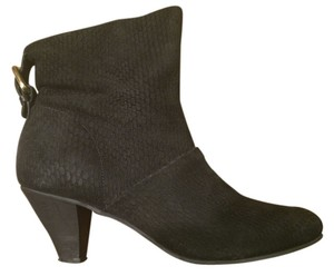 Twelfth St. by Cynthia Vincent Snake Bootie Black Boots