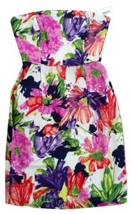 J.Crew Strapless Structured Mini Floral Dress