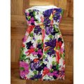 J.Crew Strapless Structured Mini Floral Dress Image 3