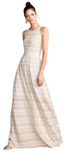 Ivory, Silver, Pink Maxi Dress by Anthropologie