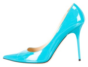 Jimmy Choo Patent Leather Abel Blue Pumps