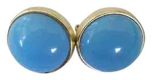 Other Light Blue & Gold Vintage Clip-on Earring