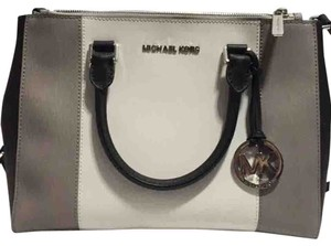 Michael Kors Satchel in White, Black, Grey