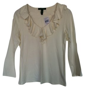 Ralph Lauren Fall Top Ivory