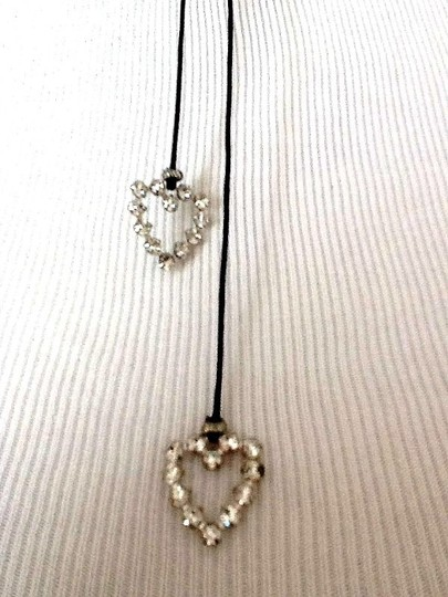 Express 2 heart rhinestone necklace