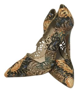 Alice + Olivia Stilettos Multi color all leather with cutouts gorgeous Pumps