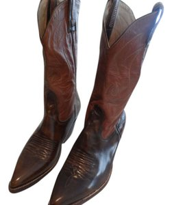 El Canelo Tan and Brown Leather Boots