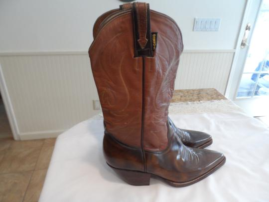 El Canelo El Canelo Tan and Brown Leather Boots Image 1