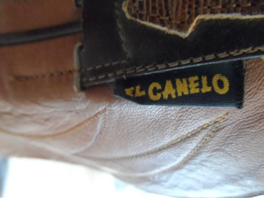 El Canelo El Canelo Tan and Brown Leather Boots Image 2
