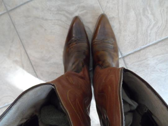 El Canelo El Canelo Tan and Brown Leather Boots Image 5