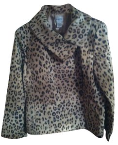 Chico's Animal Print Leather Jacket