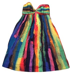 MILLY short dress Bright Multicolor on Tradesy