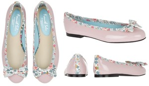 FRENCH SOLE BY APPOINTMENT TO LIBERTY Henrietta Betsy Bow Ballet Ballet Bow Light Pink Flats