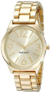 Nine West Nine West Women's Gold-Tone Bracelet Watch