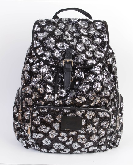 PINK Bookbag Limited Edition Canvas Sequin Backpack Image 1