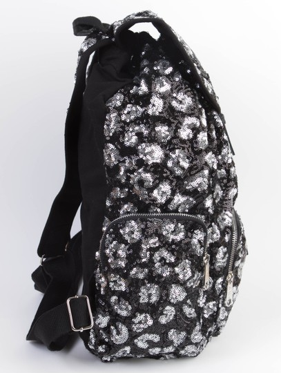 PINK Bookbag Limited Edition Canvas Sequin Backpack Image 4