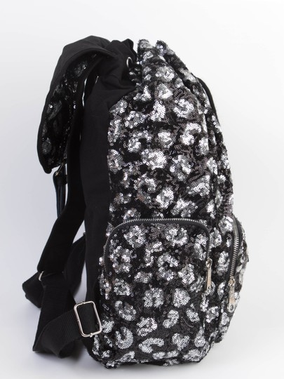 PINK Bookbag Limited Edition Canvas Sequin Backpack Image 5
