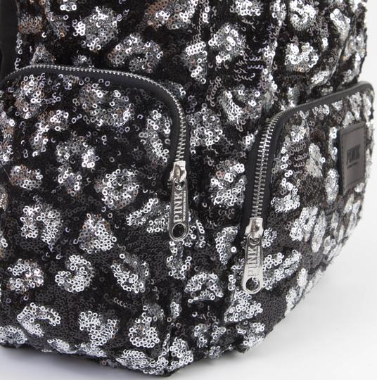 PINK Bookbag Limited Edition Canvas Sequin Backpack Image 8