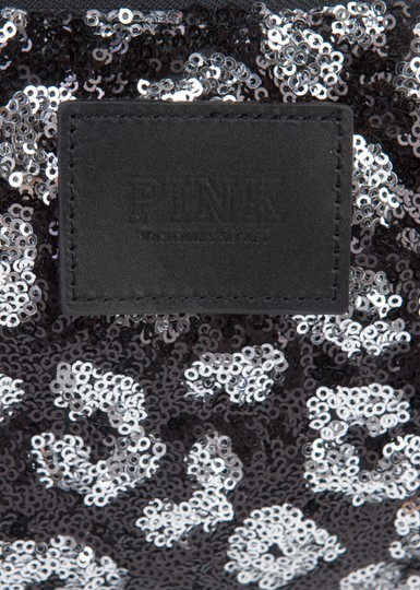 PINK Bookbag Limited Edition Canvas Sequin Backpack Image 9