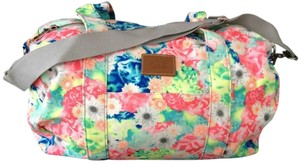 PINK Duffle Backpack Multi Floral Travel Bag