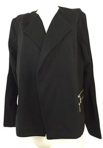 Chico's Modern Ponte Knit Open Fits Womens 12 Black Jacket