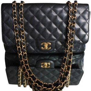 Chanel Jumbo Caviar Single Flap Shoulder Bag