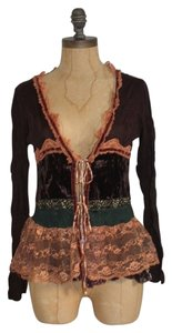 Anthropologie Velvet Lace Hazel M Cardigan