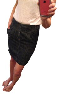 Juicy Couture Denim Buttons Pockets Mini Skirt Denim/dark blue
