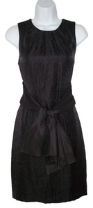 Vera Wang Lavender Label Bow Sheen Fitted Mini Dress