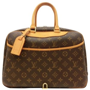 Louis Vuitton Deauville Gm Monogram Lv Tote in Browm